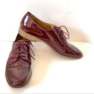 "BASS ""Ella"" Burgundy Patent Leather Oxfords—SZ. 10"